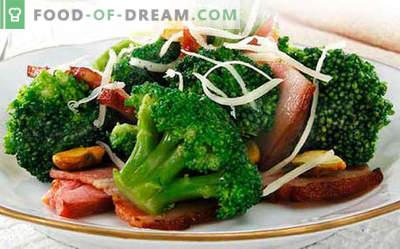 Brokkoli salat - viis parimat retsepti. Kuidas korralikult ja maitsvat keedetud brokoli salatit.
