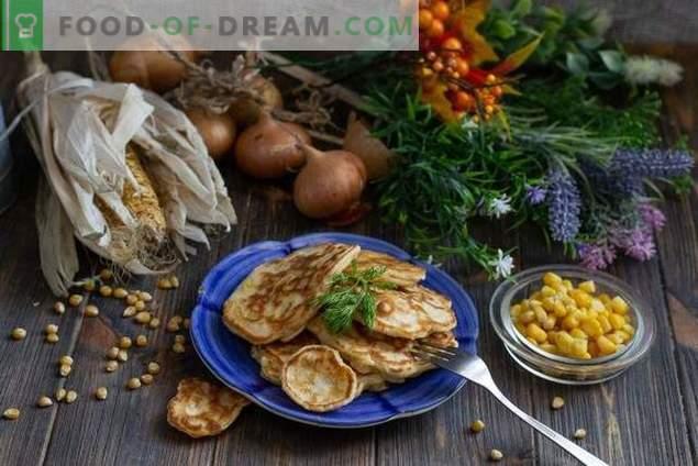 Fritos com milho e cebola - fast food caseiro real