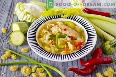 Sopa de Frango com Legumes e Massas