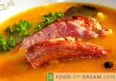 Sopa de porco - as melhores receitas. Como corretamente e saboroso cozinhar sopa em caldo de carne de porco.