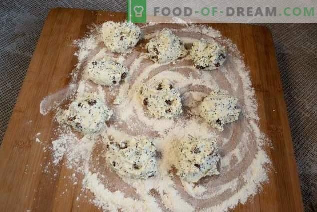 Cheesecakes com sementes de papoula e passas - o sabor da infância