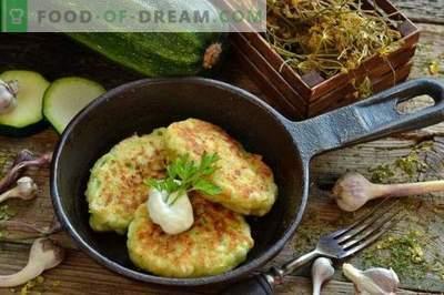 Buñuelos de calabacín sabrosos con queso y ajo