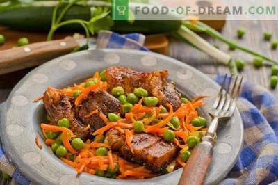 Carne de porco com legumes no forno