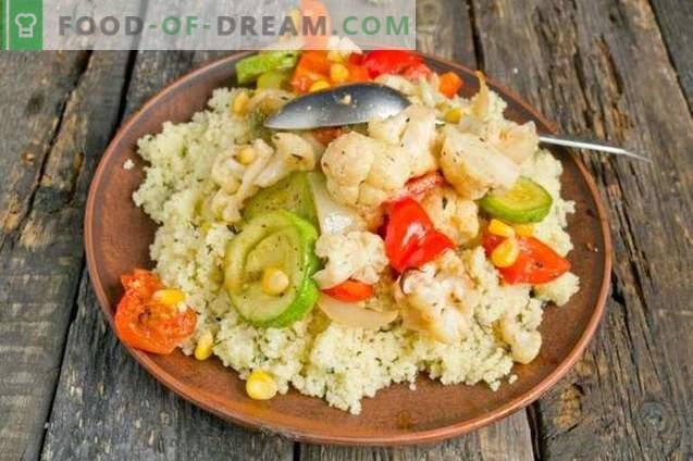 Vegetais cozidos marroquinos com cuscuz