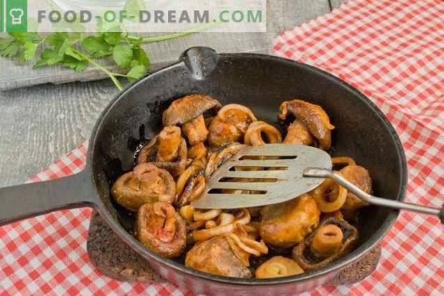 Feijão Estufado com Cogumelos