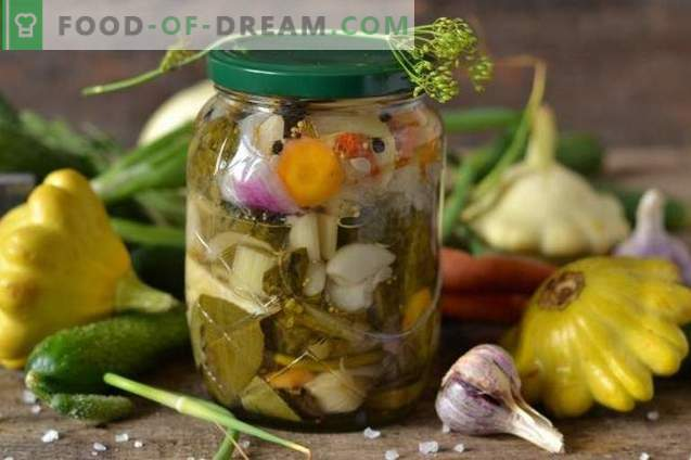 """Salada para o inverno com patissons """"Our garden"""""""