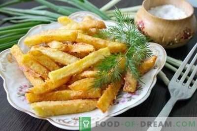 As batatas fritas caseiras são mais saborosas, mais naturais e mais baratas do que no McDonalds. Como cozinhar batatas fritas em casa.