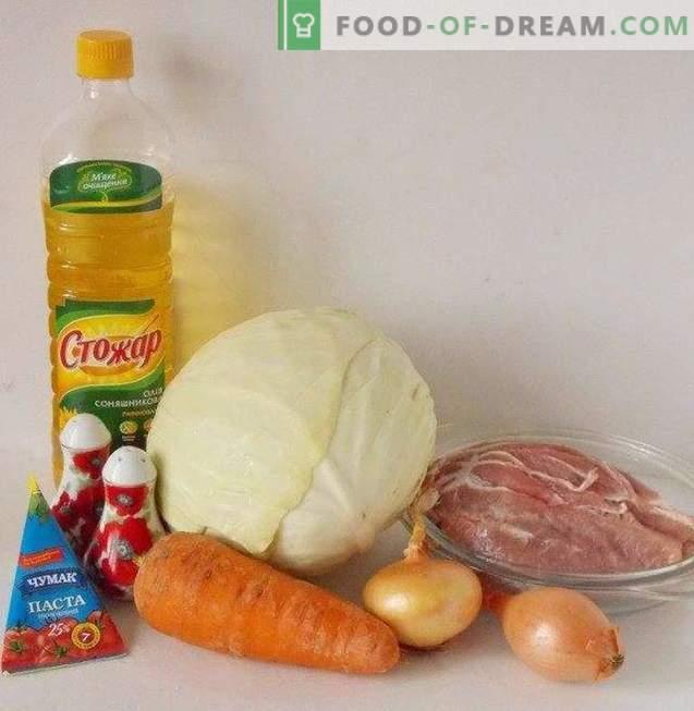 Geschmorter Kohl mit Fleisch