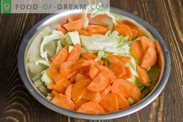 Salada de legumes em conserva para o inverno