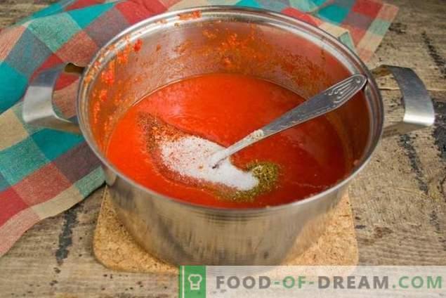 Molho de tomate caseiro - para um kebab incomparavelmente delicioso!