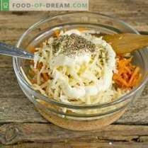 Salada de frango fácil com queijo e cenoura