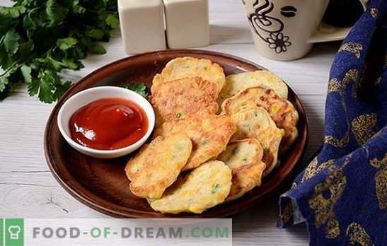 Fritos com milho: use milho enlatado de latas! Receita de foto passo a passo do autor para panquecas com milho em kefir
