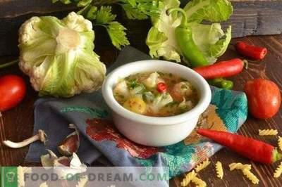 Sopa vegetariana com couve-flor