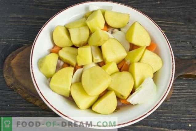 Frango assado no forno com batata
