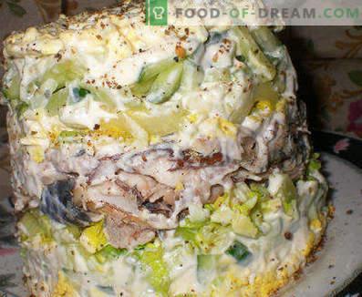 Salada de peixe cozido - receitas para dias de semana e feriados
