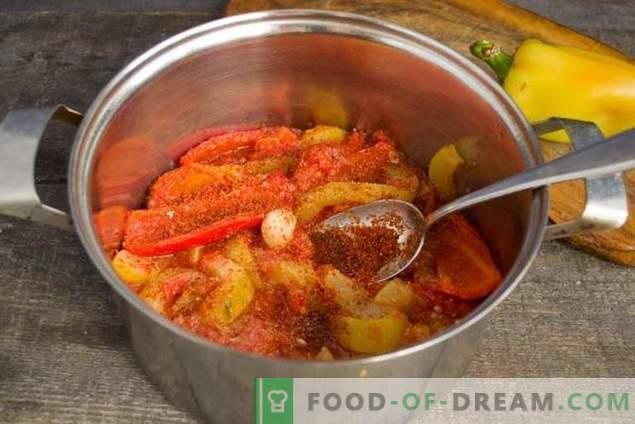 Ensopado de abobrinha com tomate e pimentão