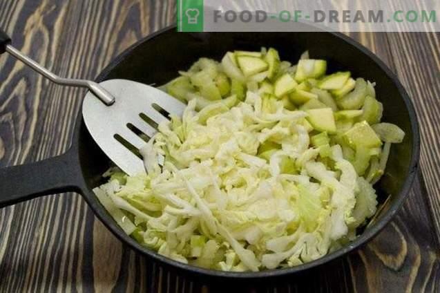 Salada de legumes em camadas para o inverno