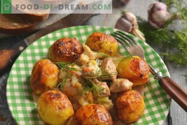 Carne de porco com courgettes e batatas