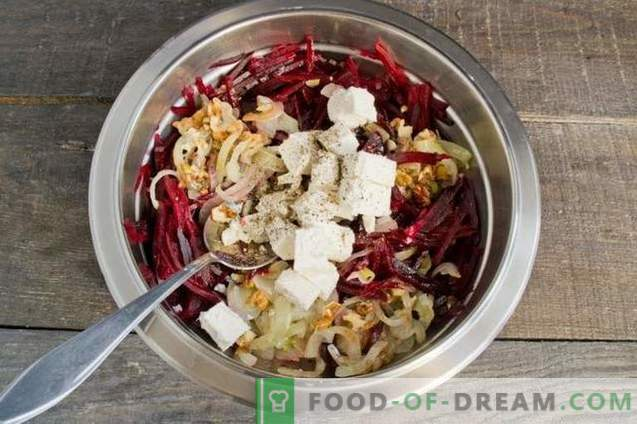Salada de Beterraba com Cebola, Queijo e Nozes