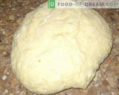 Massa para tortas com leite azedo, fermento, para tortas fritas e assadas