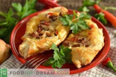 Sfoglia con carne, patate e formaggio