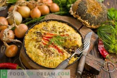 Potato pie with minced meat