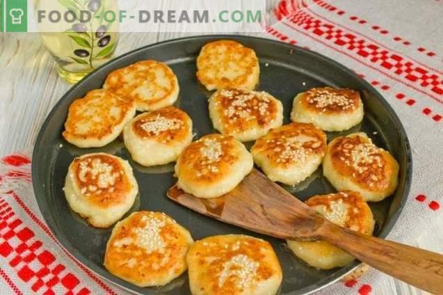 Bolos de queijo de banana