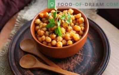Como cozinhar grão de bico: características de cozinhar leguminosas. Quanto cozinhar grão de bico após a imersão e o que cozinhar dele?