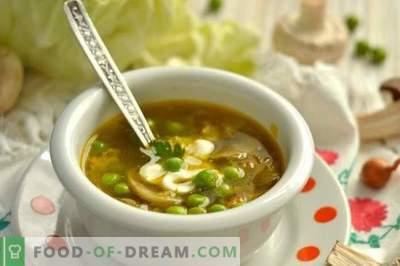 Sopa de Frango com Ervilhas e Cogumelos