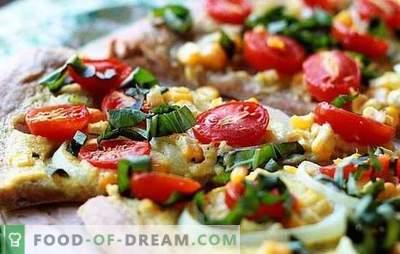 Pizza sans fromage - et cela se produit! Recettes de différentes pizzas sans fromage à partir de pâte rapide, levure, feuilletée