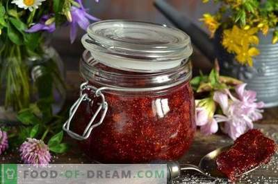 Wild strawberry jam with agar-agar