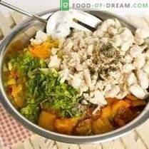 Torta com frango e legumes