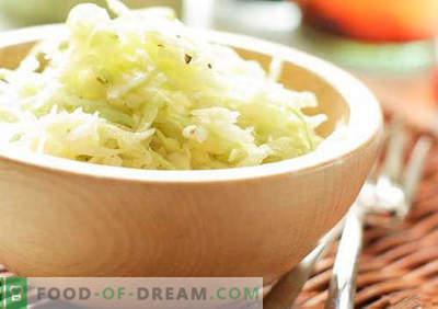 Salada de repolho com vinagre - uma seleção das melhores receitas. Cozinhar corretamente salada de repolho com vinagre.