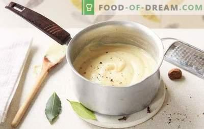 Como cozinhar bechamel em casa? Variantes de molho bechamel em casa: com cebola, carne, queijo e cogumelos