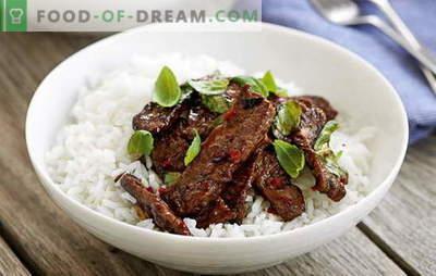 A carne tailandesa é exótica na sua cozinha. As melhores receitas de carne em tailandês: frango, carne de vaca, carne de porco