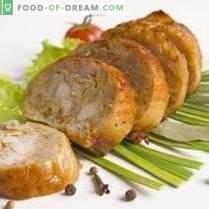 Linguiça de frango caseiro com cevadinha