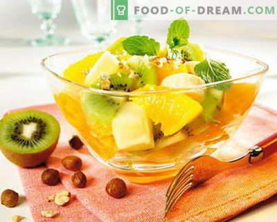 Salada de frutas - as melhores receitas. Como preparar corretamente e deliciosamente saladas de frutas.