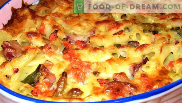 Massa Casserole com carne picada no forno, com queijo, legumes, passo a passo