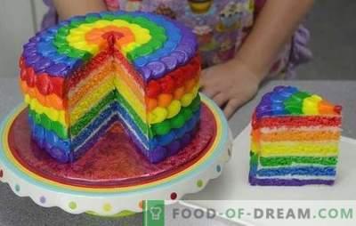 Ficamos surpresos com o sabor e a cor: bolo