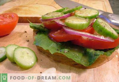 Parimad retseptid on tomati võileivad. Kuidas kiiresti ja maitsev valmistada võileibu tomatitega.