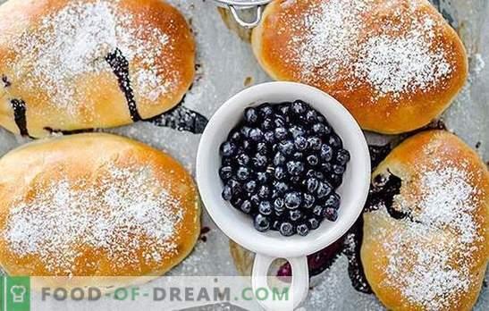Rissóis com blueberries - para grande alegria! Receitas para Tortas de Mirtilo Caseiras: Assado e Frito