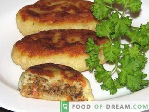 Batata zrazy - as melhores receitas. Como corretamente e saborosa batata cozida zrazy.