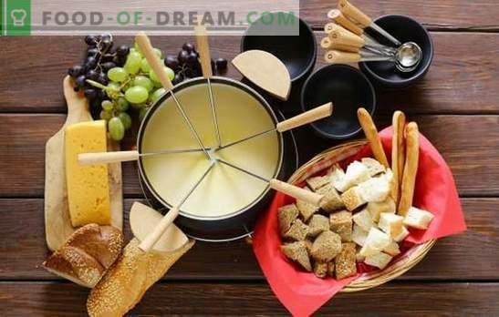 Fondue - as melhores receitas, a escolha de pratos de fondue, recursos de culinária