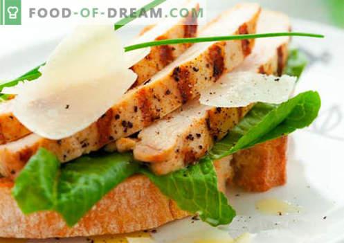 Sanduíches festivos são as melhores receitas. Como preparar rapidamente e saboroso sanduíches festivos.