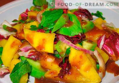Salada de manga - as melhores receitas. Como fazer uma salada cozida adequada e saborosa com manga