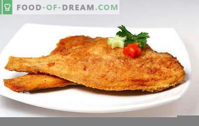Kaip pakepti plekšnę, kad žuvis būtų skanus. Kaip atsikratyti nemalonaus kvapo ir kiek kepti plekšnę