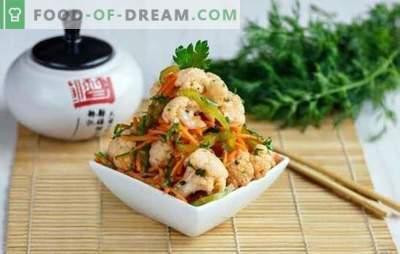 Lanches coreanos - os mais perfumados e deliciosos! Receitas para diferentes lanches coreanos de berinjela, frango, abobrinha, cenoura e tomate