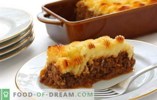 Caçarola de batata com carne no forno - alimente a todos! Cozinhando deliciosos e diferentes ensopados de batata com carne no forno