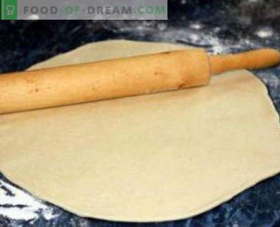 Massa de pizza de levedura rapidamente, receitas simples