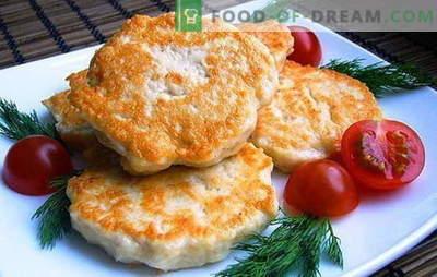 Costeletas de frango com maionese - dar suculência! Receitas de costeletas de frango ordinárias e picadas com maionese